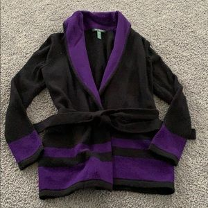Black and purple Lauren by Ralph Lauren cardigan